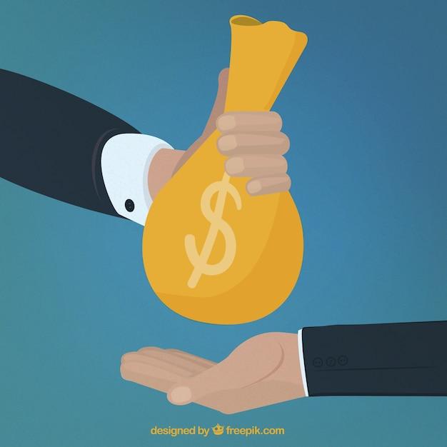 他の手にお金を与えるハンド 無料ベクター