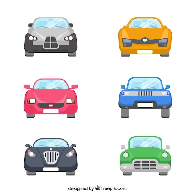 Коллекция автомобилей Бесплатные векторы