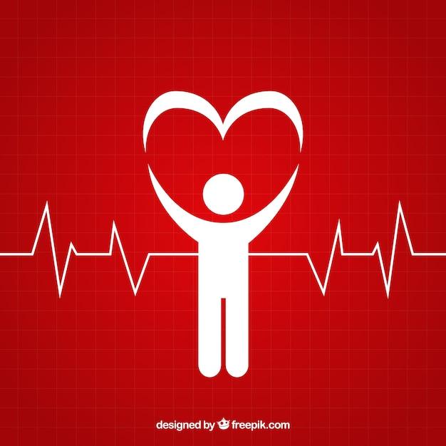 心臓病のロゴ 無料ベクター