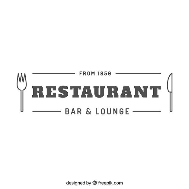 レストランのロゴ 無料ベクター
