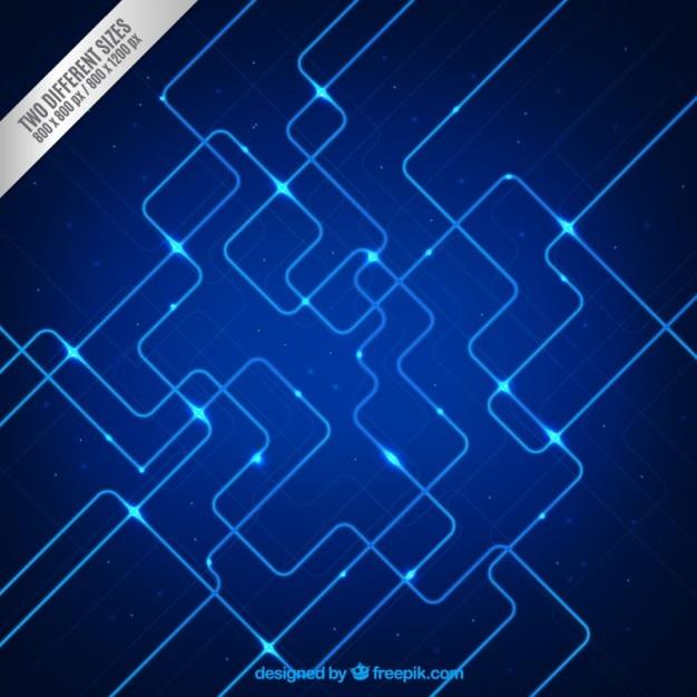 Привет-тек фон в голубых тонах Бесплатные векторы