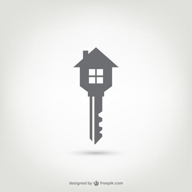 Клавиша с логотипом дом Бесплатные векторы