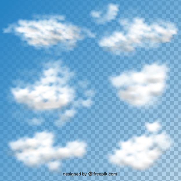 雲コレクション 無料ベクター