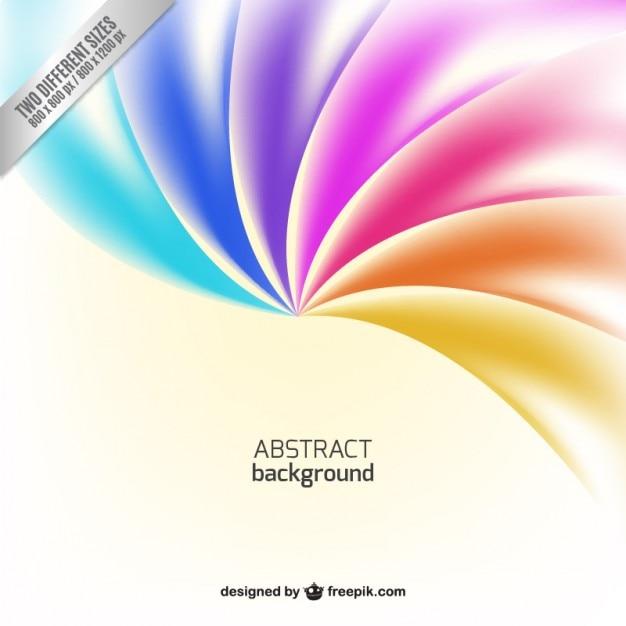 虹色調の抽象的な背景 無料ベクター