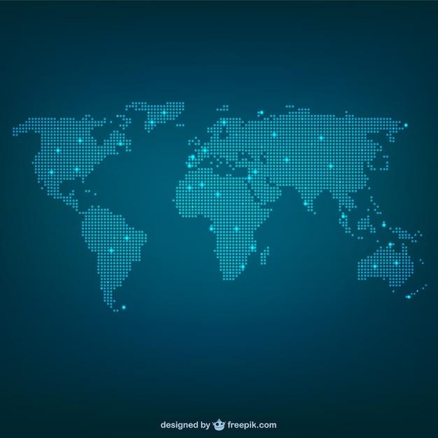 ドットで作られた世界地図 Premiumベクター