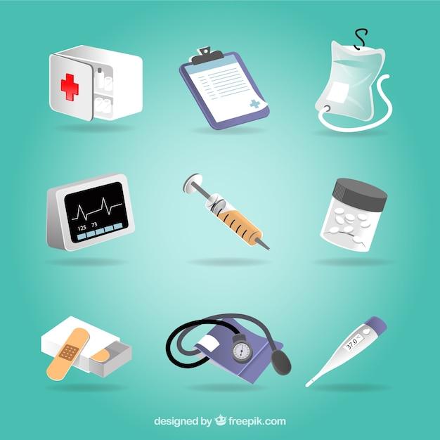 Медицинское оборудование Бесплатные векторы