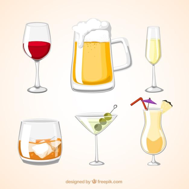 Алкогольные напитки Бесплатные векторы