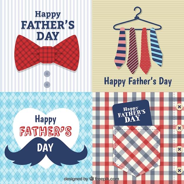 День отца карты Бесплатные векторы