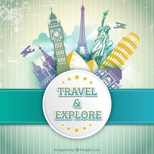 旅と探検 無料ベクター