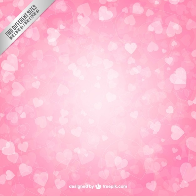 ピンクのハートの背景 無料ベクター