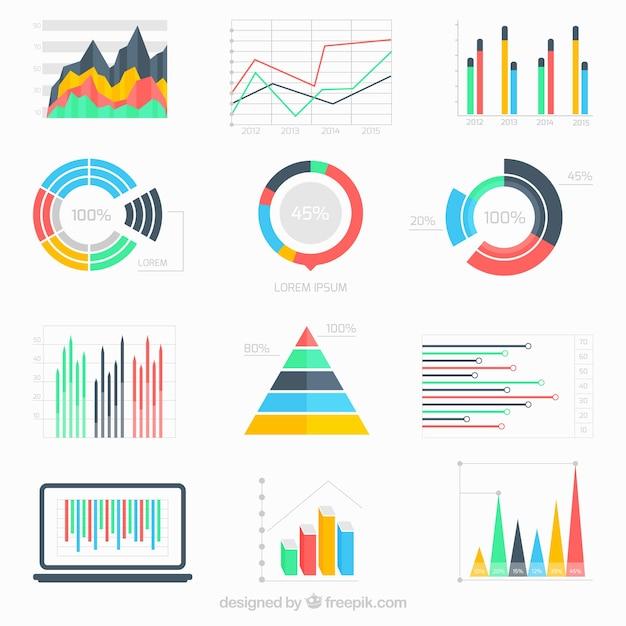 Инфографики бизнес-данные Бесплатные векторы