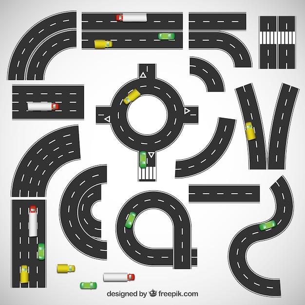 高速道路のコレクション 無料ベクター