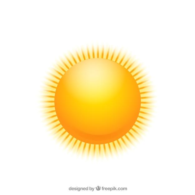 Блестящий солнце Бесплатные векторы