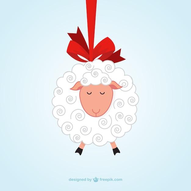 ハンギング羊 無料ベクター