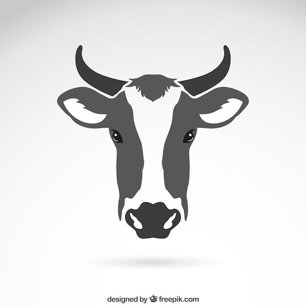 Корова головой Бесплатные векторы