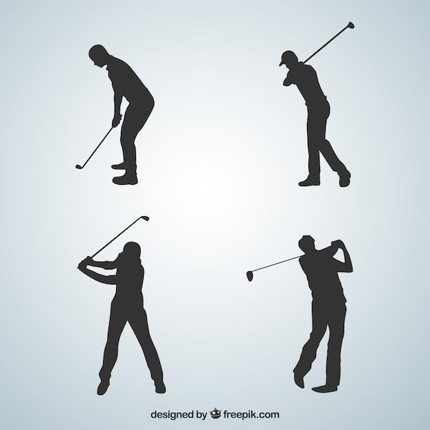 ゴルフスイングコレクション 無料ベクター