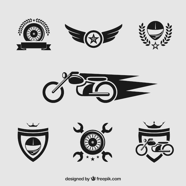 Мотоцикл значки Бесплатные векторы