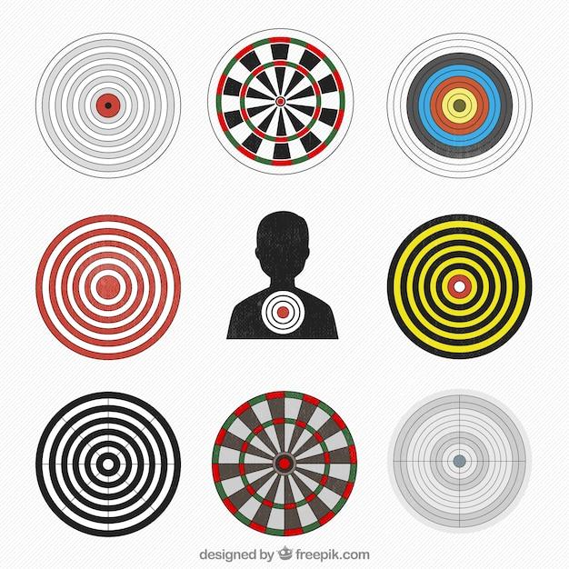 Разнообразие целей Бесплатные векторы
