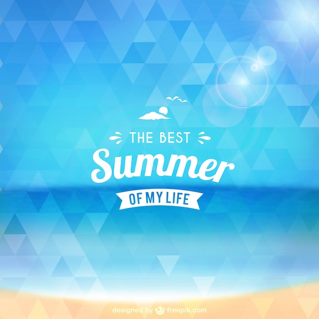 Лучшее лето в моей жизни Бесплатные векторы