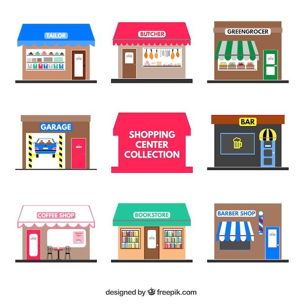 ショッピングセンター 無料ベクター