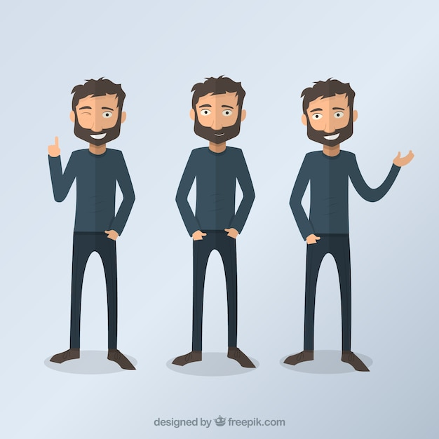 Человек иллюстрации Бесплатные векторы