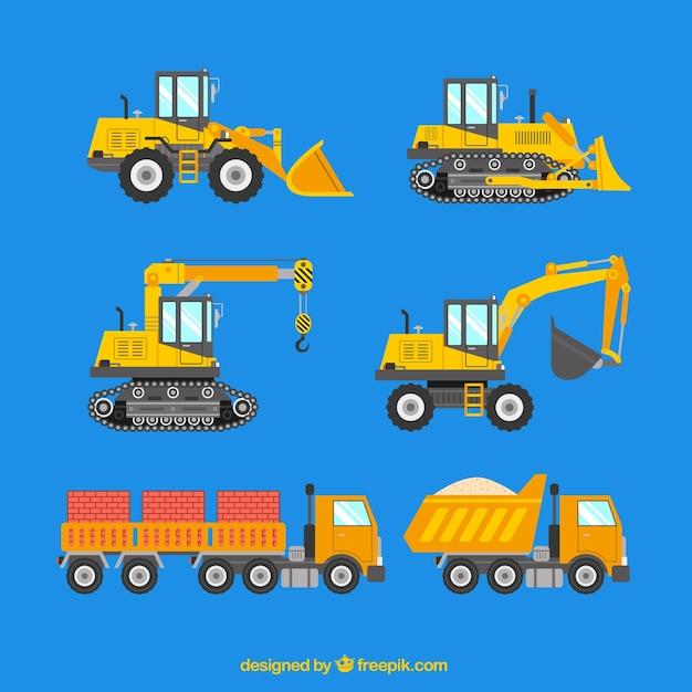 建設機械 無料ベクター