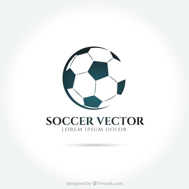 Футбол логотип Бесплатные векторы