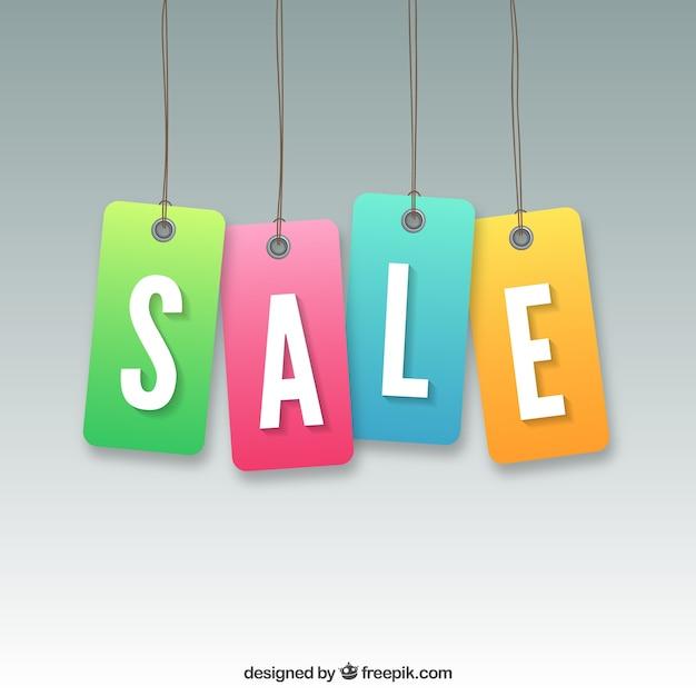 Продажа этикетки Бесплатные векторы