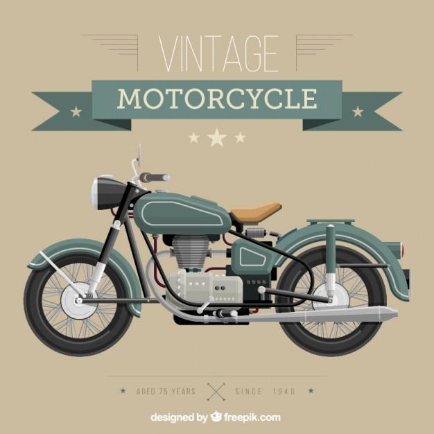 Старинные мотоциклы Premium векторы