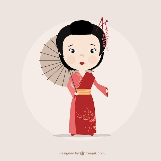 картинка китаянка рисунок