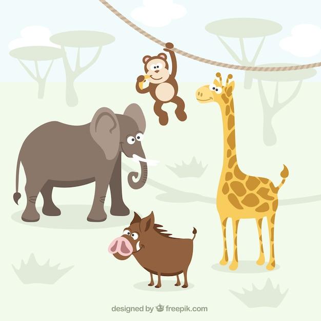 アフリカの動物 無料ベクター