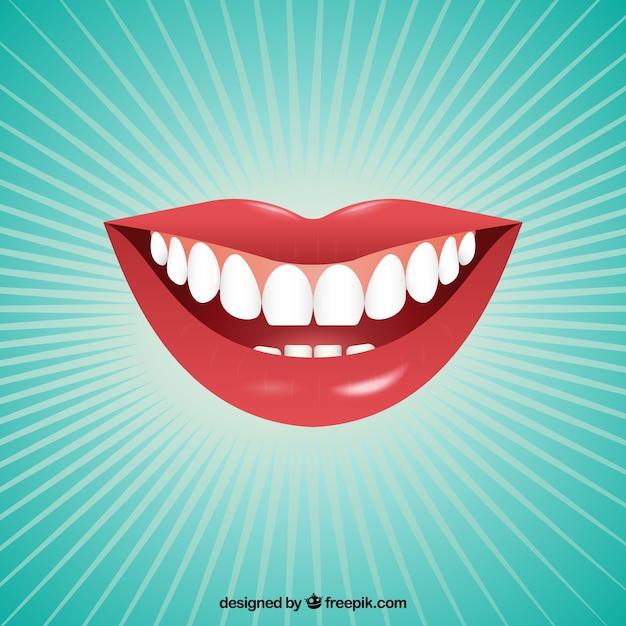 Женский рот Бесплатные векторы
