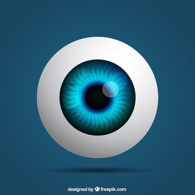 Реалистичная глаз Бесплатные векторы