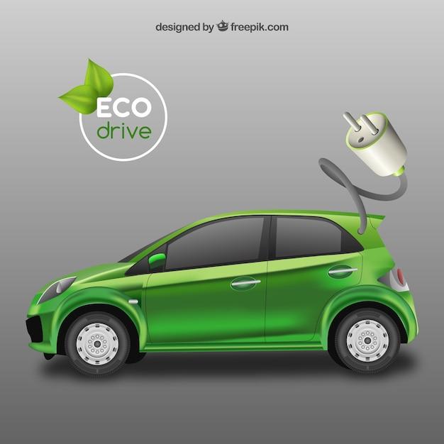 生態グリーン車 無料ベクター