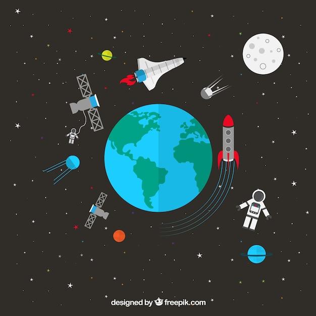 宇宙空間 無料ベクター