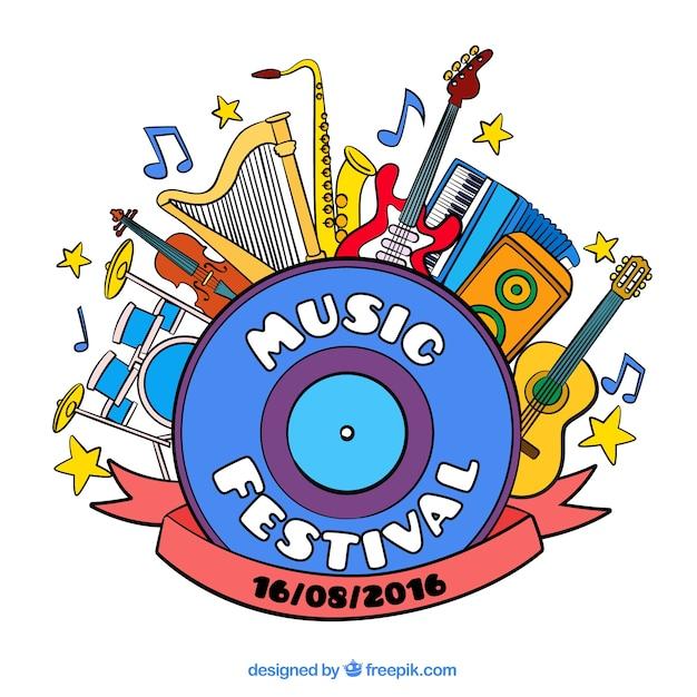 音楽祭のイラスト ベクター画像 無料ダウンロード