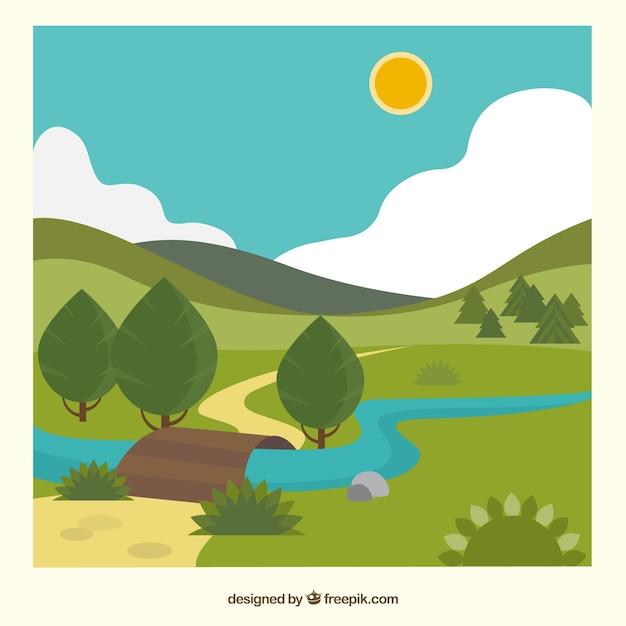 自然景観 無料ベクター