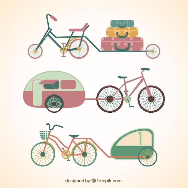 ヴィンテージ自転車 無料ベクター