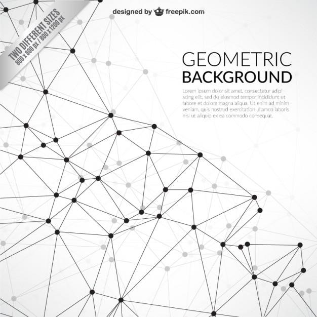 ネットワークスタイルで幾何学的背景 Premiumベクター