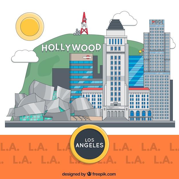 ロサンゼルスの建物 無料ベクター