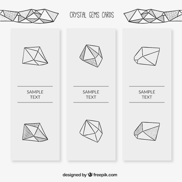 Набор камней каракули карты Бесплатные векторы