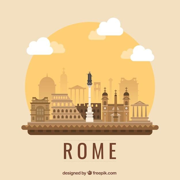Рим иллюстрация Бесплатные векторы
