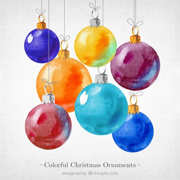 Красочные рождественские украшения Бесплатные векторы