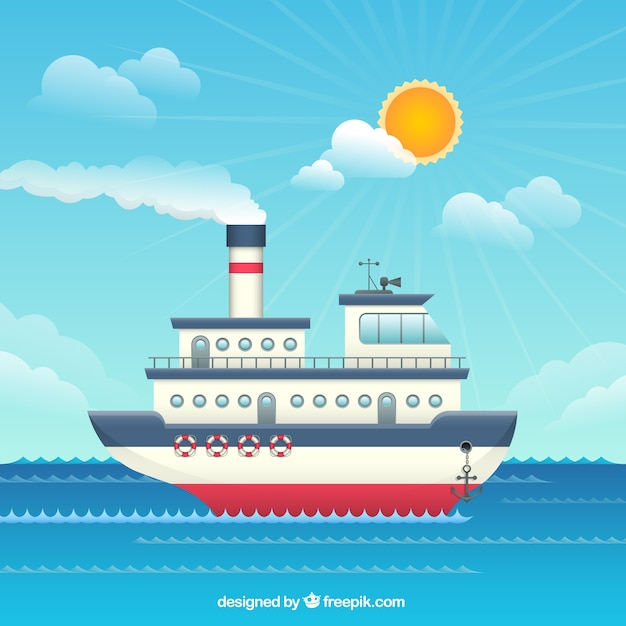 Картинки с пароходом для детей