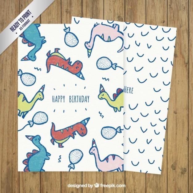 Динозавр открытка