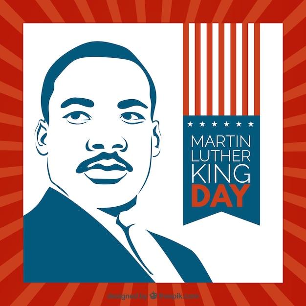 マーティン・ルーサー・キングの肖像画 無料ベクター
