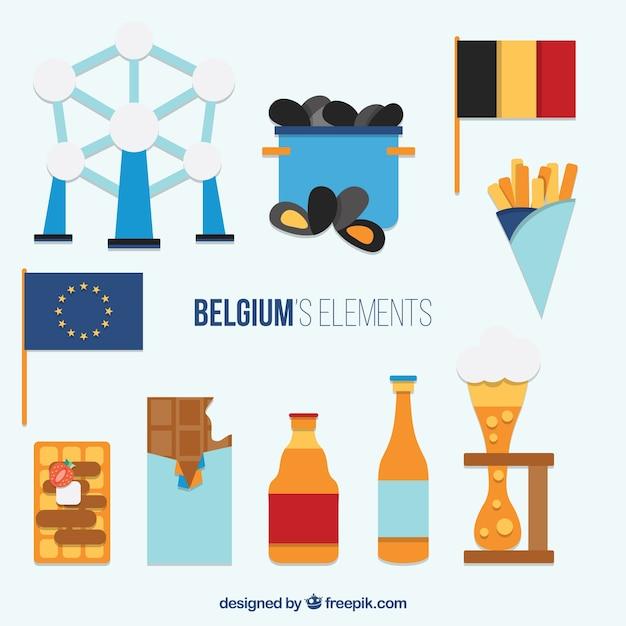 フラットベルギーの要素 無料ベクター