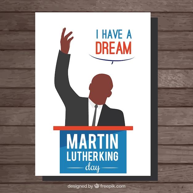 マーティン・ルーサー・キングの日カード 無料ベクター