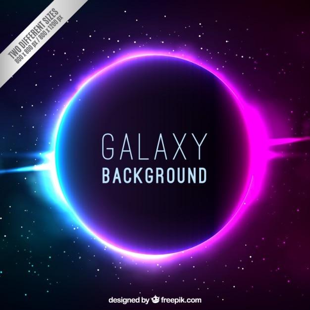 明るい銀河の背景 無料ベクター