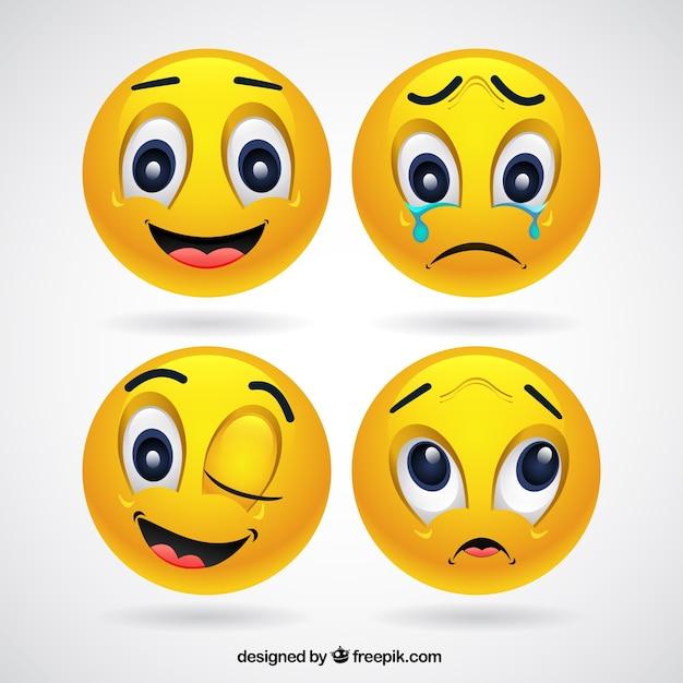 Изображения смайликов с разными эмоциями